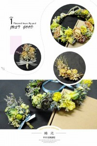 手作花卉 乾燥花圈 新娘飾品